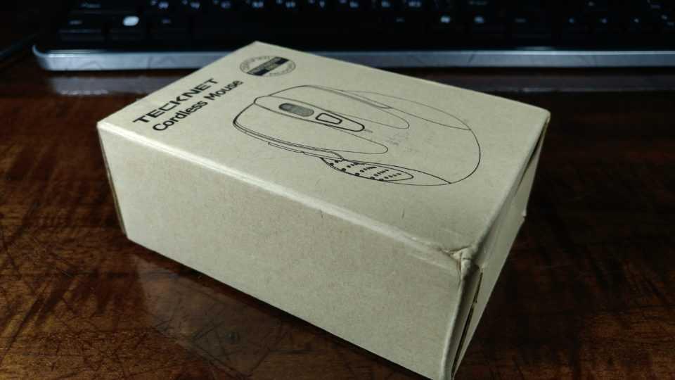 Упаковка беспроводной мыши Tecknet M003