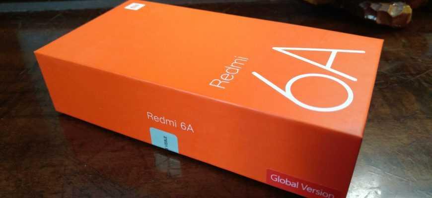 Упаковка Xiaomi Redmi 6A