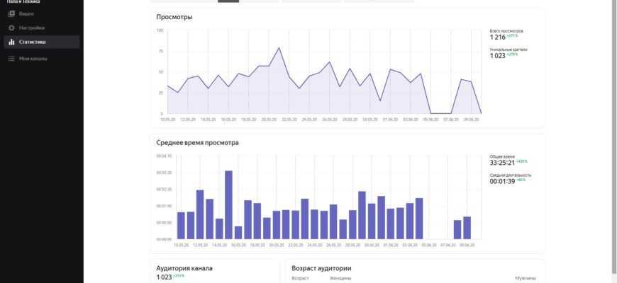 Статистика Яндекс Видеохаб